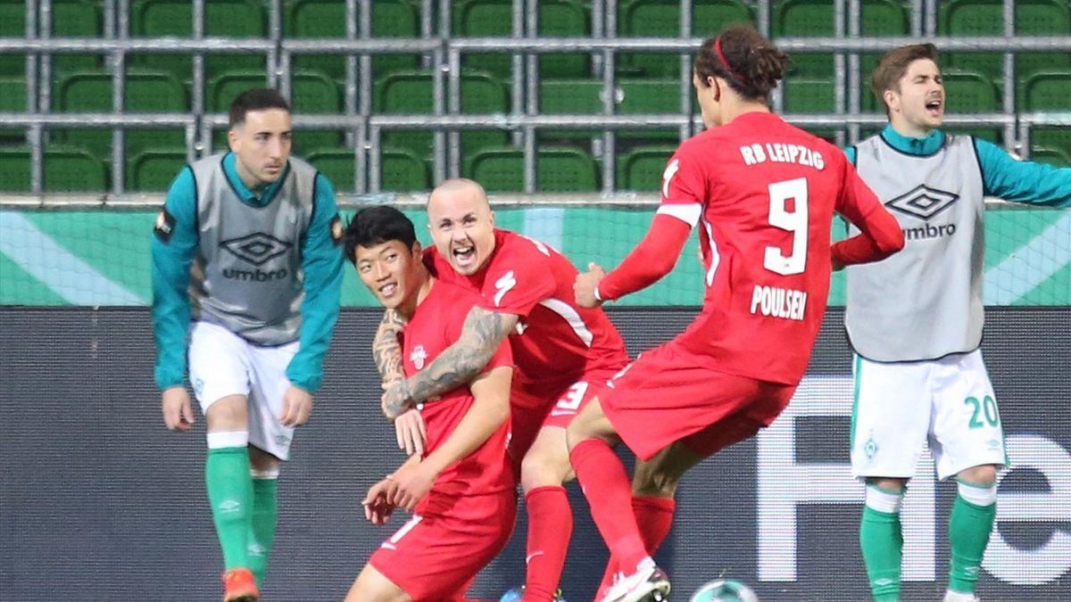 Leipzig vence Werder Bremen na prorrogação e está na final da Copa