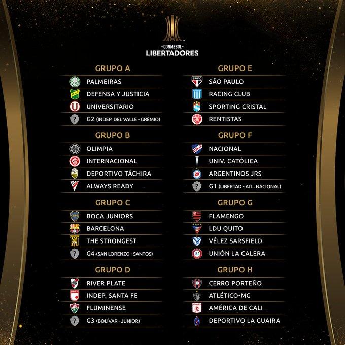Sorteio da fase de grupos da Libertadores