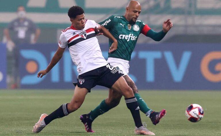 Palmeiras e São Paulo ficam no empate em jogo de ida da final do paulista