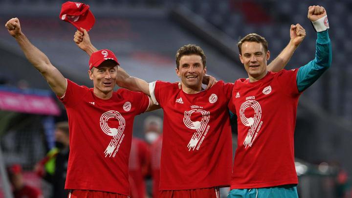 Bayern goleia M'gladbach e consagra seu 30° titulo de Bundesliga